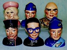 BESWICK SET OF 6 THUNDERBIRDS BUSTS - LIMITED EDITION OF 2500 - ISSUED 1992