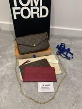 Louis Vuitton Felicie Pochette Monogram Canvas Leather Chain Bag - Sold Out