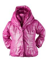 New Obermeyer Kids Ingenue Jacket Girl Pink Sparkle Shimmer Oversize Hood 4 4T