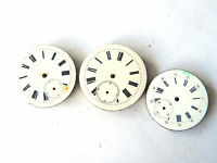 3x Swiss POCKET WATCH MOVEMENTS Vintage for Parts/Steampunk Art