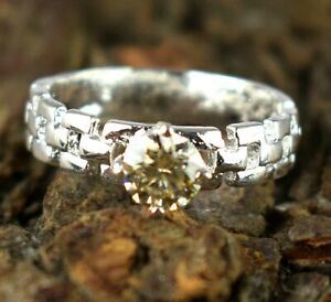 2.83 Ct Champagne Diamond Solitaire Ring Ideal Engagement Gift