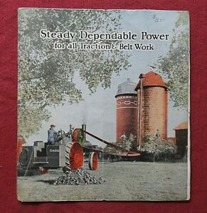1910's J I CASE 40hp 50hp 65hp 80hp TRACTOR TRACTION STEAM ENGINES BROCHURE RARE