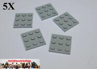 5X Lego® 11212 Basic Platte Plate 3X3 neues Hellgrau Light Bluish Gray NEU