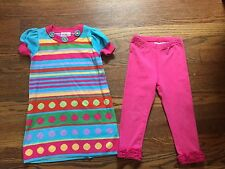 Euc Hanna Andersson Rainbow Sweater dress with pink leggings size 90