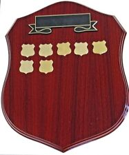 Perpetual Shield Trophy Plaque 340mm Timber (20 Shields) Engraved FREE
