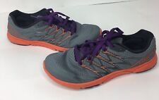 Merrell Bare Access Ultra Womens Size 8 Gray Purple & Coral Tennis Shoes