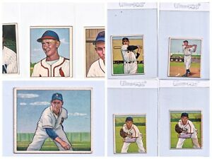 Lot of (x8) 1950 Bowman Baseball Cards, HOFer!