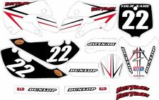 Kawasaki KLX110 2002-2009 Complete Graphics Kit - White Arrow - by FastTimes