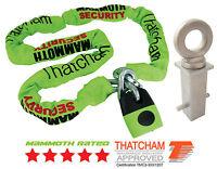 MAMMOTH THATCHAM SHACKLE LOCK & CHAIN 1.8M + GROUND ANCHOR MOTORCYCLE MOTORBIKES