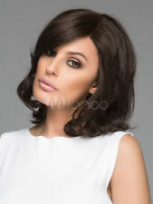 100% Real hair! Fashion Sexy Women Short Curly Dark Brown Natural Hair Wigs