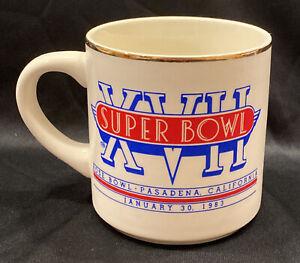 Vintage 80s Miami Dolphins Super Bowl XVII 8oz Mug