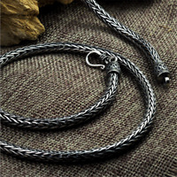 Heavy Solid 925 Sterling Silver Snake Chain Necklace 5mm Handmade Thai Silver