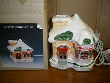 Christmas Around the World Lighted Snow House