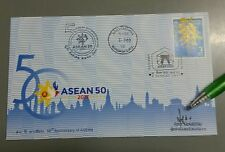 Thailand First Day Cover FDC 50 ASEAN Post autograph 2017 special postmark