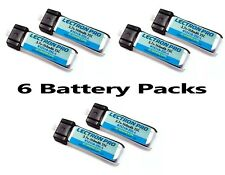Brand New Lectron Pro 3.7 volt 160mAh 25C Lipo Battery 6 Packs : Blade mCX mSR