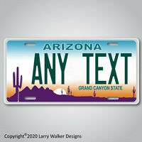 Arizona Personalized Custom ANY TEXT  Aluminum License Plate Tag New Modern