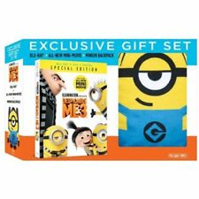 Despicable Me 3 Blu-ray/DVD/ Digital HD+Plush Minion Backpack Gift New in shrink