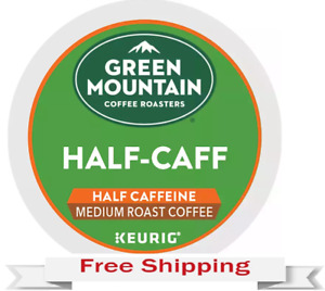 Keurig Green Mountain 1/2 Half Caff Coffee K-cups 24 Count