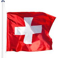 Alu Fahnenmast 6,25 m inkl. Bodenhülse Schweiz Fahne Mast Flagge Flaggenmast