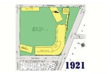Navin Field (Tiger Stadium) 1921 Sanborn Map Postcard - Detroit Tigers