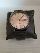 Diesel Black DZ1904 series watch with rose gold face. 44mm case size.