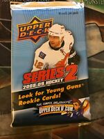 UPPER DECK 2008-09 HOCKEY SERIES 2 Factory Sealed BOOSTER Pack | 1 PACK | RARE