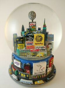 Vintage 1999 NYC New York Times Square Broadway Musical Snow Globe