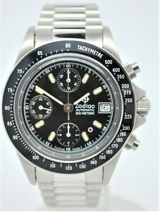 Zodiac Red spot chronograph automatic stainless-steel gents watch.