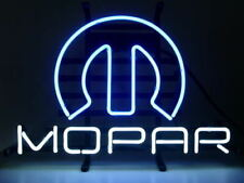 """Mopar Neon Light Sign 17""""x14"""" Beer Cave Gift Real Glass"""