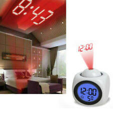 Digital Alarm Clock LED Wall/Ceiling Projection LCD Display Voice Talking