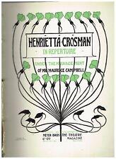 HEnrietta Crossman Repertoire theatre publication