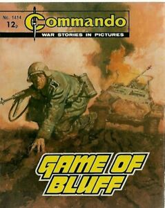 GAME OF BLUFF,COMMANDO WAR STORIES IN PICTURES,NO.1414,WAR COMIC,1980