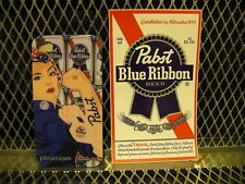 PABST BLUE RIBBON BEER ~ PBR Art Girl Tattoo Logo ~ Iphone 4G / 4GS Case Cover +