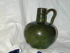 Green Ceramic Jug Vase Danish Mid Century Modern