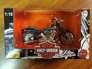 Maisto Harley Davidson 1997 FXBTB Bad Boy 1:18 New In Box