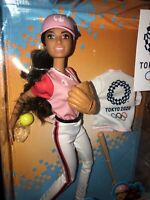 VHTF New Barbie Tokyo Olympics 2020 Softball Doll Articulated Barbie Great Gift
