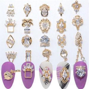 Butterfly Metal Pendant Chain Nail Jewelry Nail Rhinestones Nail Zircon