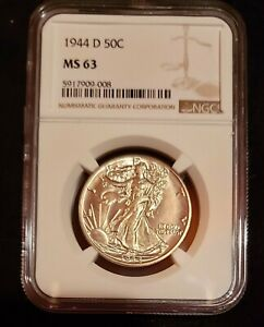 1944 D Walking Liberty Half Dollar - NGC MS 63