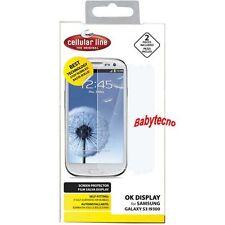 2 Pellicola SPGALAXYS3 Cellular Line adatto a Samsung I9300 GALAXY S3 I9305 4G