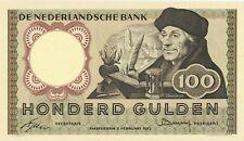 Netherlands 100 gulden 1953 XF + (Erasmus)