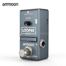 ammoon Nano Loop Electric Guitar Effect Pedal Looper Unlimited Overdubs V6D8
