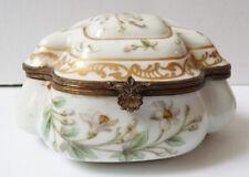 Boite Bonbonnière en porcelaine de Saxe Meissen ancien vers 1900
