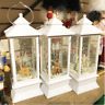 "10.9""H B/O LIGHTED WINTER SCENE SPINNING WATER GLOBE LANTERN W/TIMER, 3 ASSORTED"
