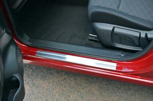 Chrome Door Sill Protectors Kick Plates To Fit Nissan X-Trail (2014