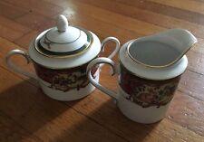 Royal Hunt by Noritake Sugar Bowl W/ Lid & Creamer Set