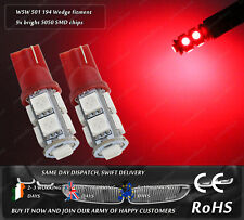 Red W5W T10 Wedge LED SMD Car Motorbike Sidelights Parking Lights Interior Bulbs