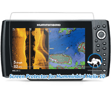 Tuff Protect Clear Screen Protectors for Humminbird Helix 10 Fishfinder (2pcs)