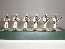 FUSILIER ROYAL NAVY SAILORS WHITES ADVANCING METAL TOY SOLDIER FIGURE SET