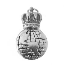 I am King / Queen of the world Crown Love Travel Vacation Sterling Silver Charm