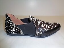 Adrianna Papell Size 8 M LOLA Black Persian Haircalf Flats New Womens Shoes